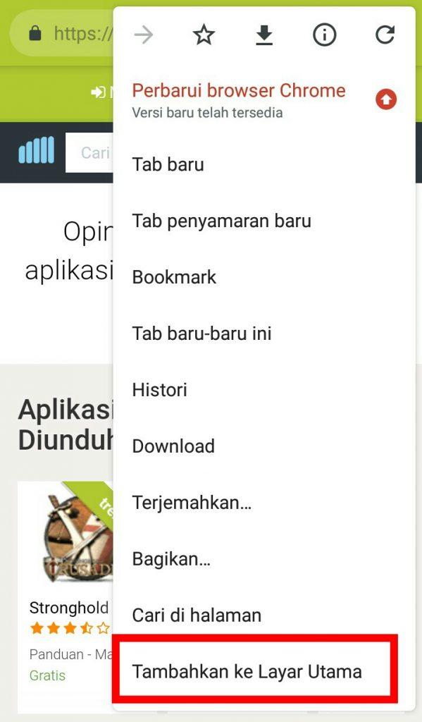 Image 5 Cara Menambahkan Pintasan Situs di Android Android