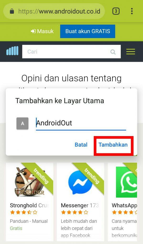 Image 6 Cara Menambahkan Pintasan Situs di Android Android