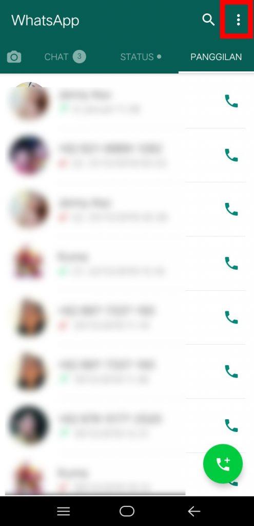 Image 2 Menghapus Riwayat Panggilan WhatsApp di Android