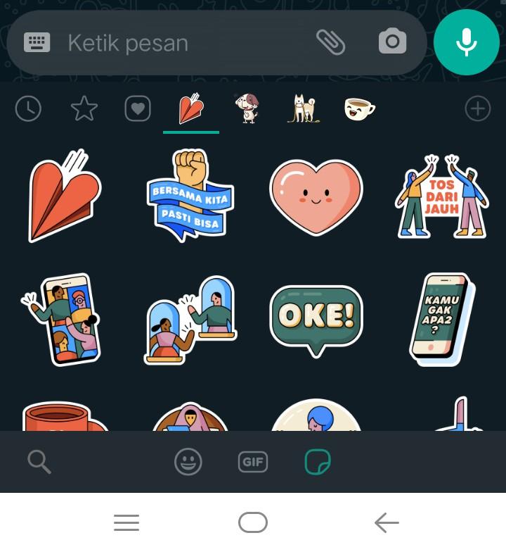 Image 3 Unduh Stiker WhatsApp Bersama di Rumah Terbaru