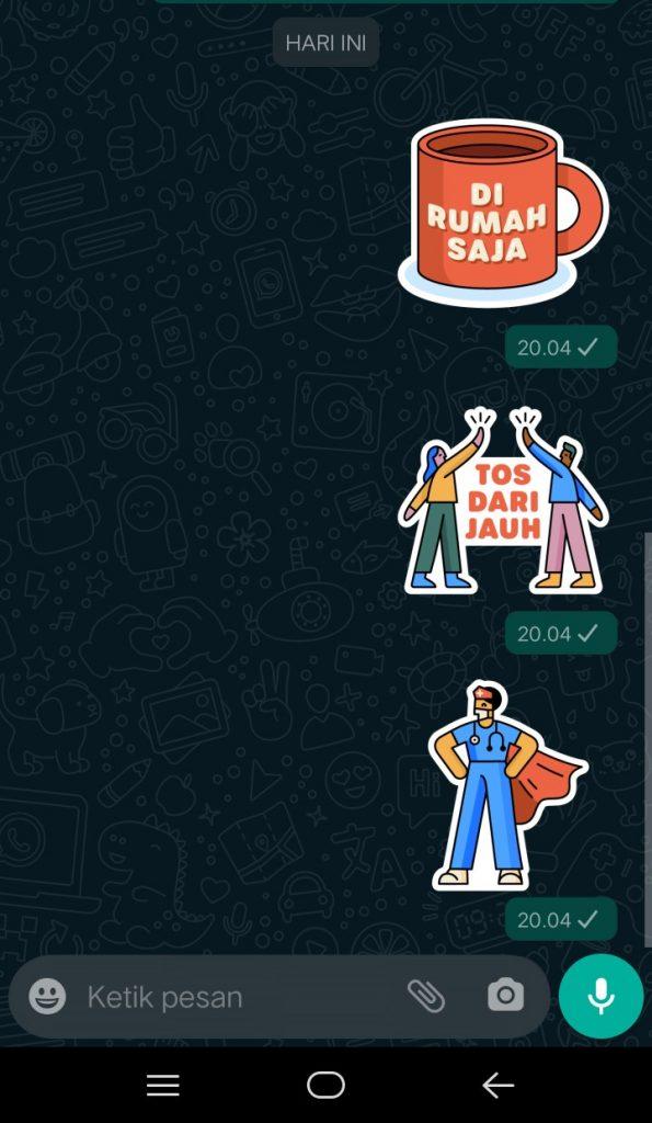 Image 4 Unduh Stiker WhatsApp Bersama di Rumah Terbaru