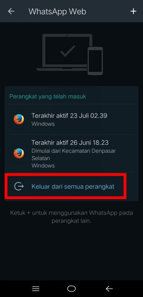 Image 12Cara Logout Semua Perangkat dari WhatsApp Web