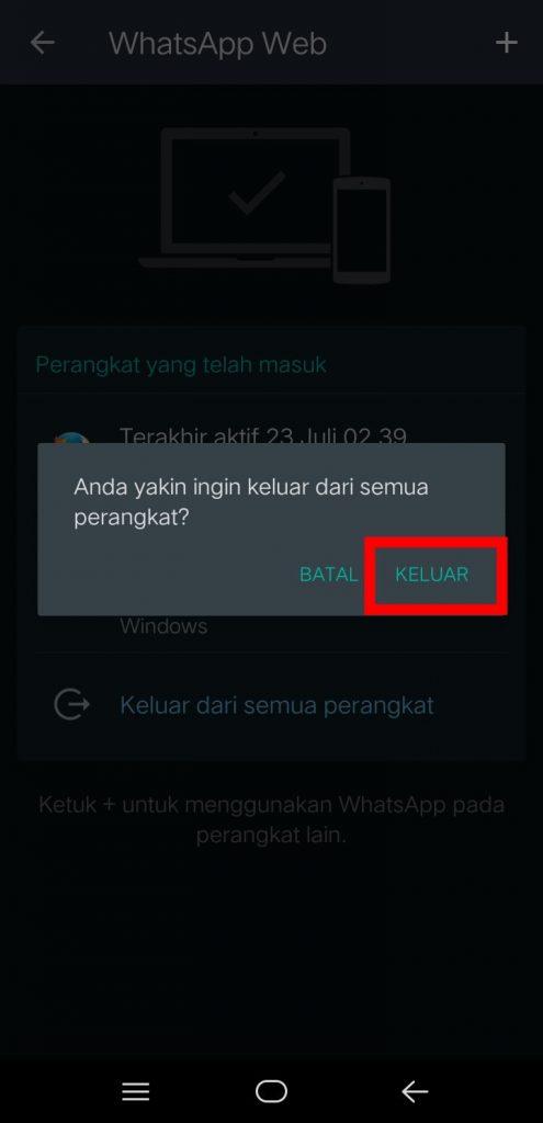Image 3 Cara Logout Semua Perangkat dari WhatsApp Web