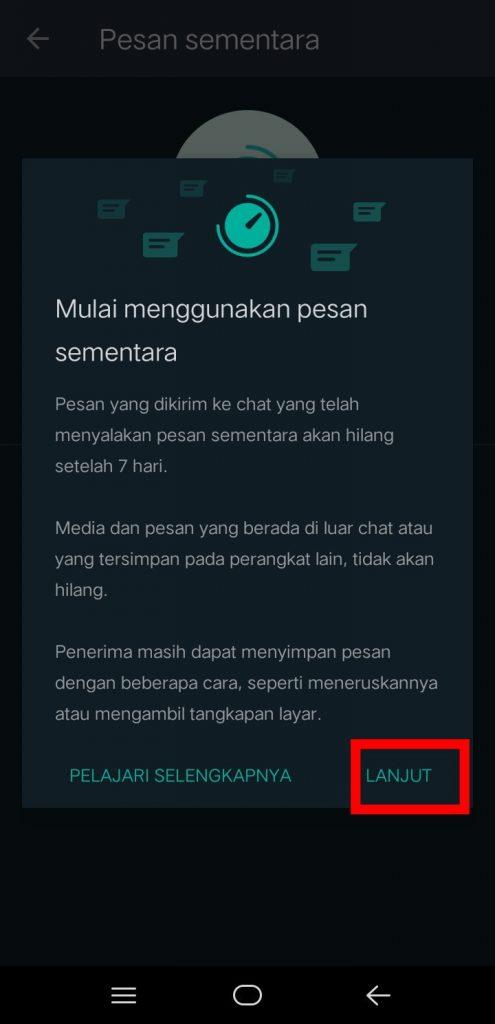 Image 2 Cara Mengaktifkan Pesan Sementara di WhatsApp