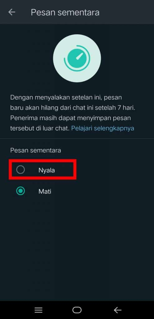 Image 3 Cara Mengaktifkan Pesan Sementara di WhatsApp