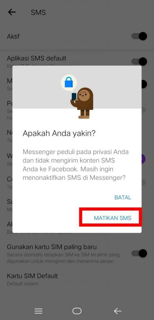 Image 3 Cara Mematikan Fitur SMS di Facebook Messenger