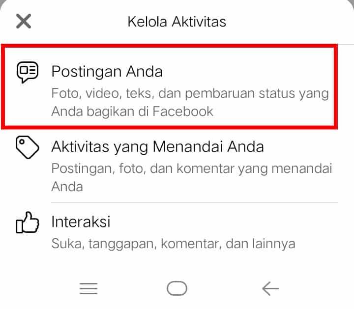 Image 5 Cara Menghapus Banyak Postingan Facebook Sekaligus