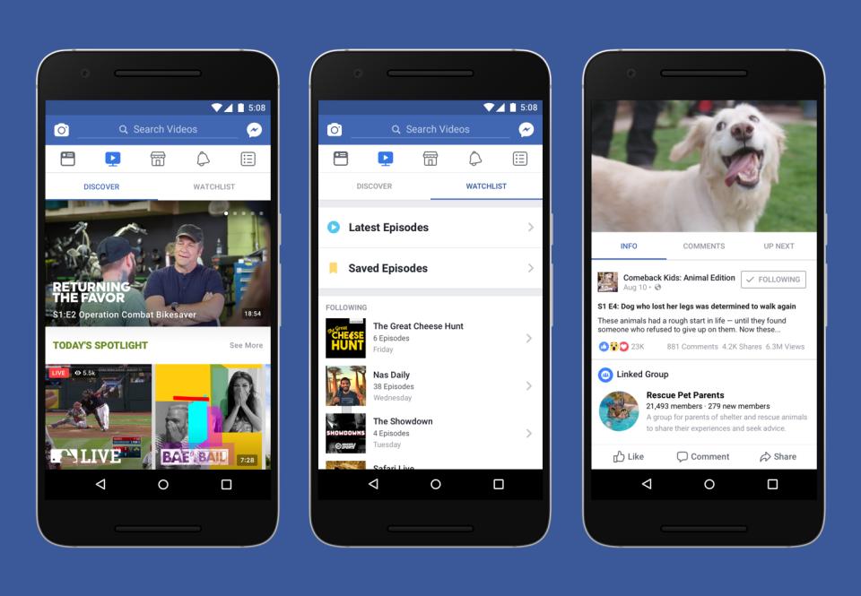 image de Découvrez Facebook Watch, une nouvelle plate-forme vidéo pour concurrencer YouTube 2