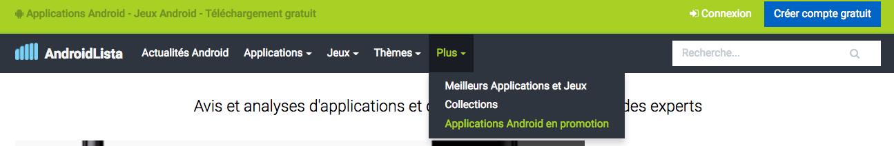 image de Consultez notre nouvelle section : Applications Android en promotion 3