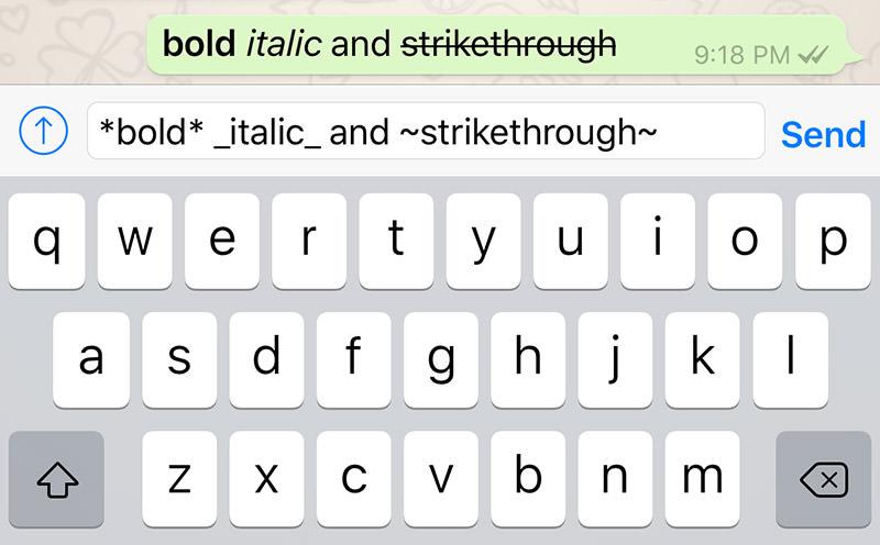 image de Comment ajouter du texte gras, italique ou barré sur WhatsApp 2