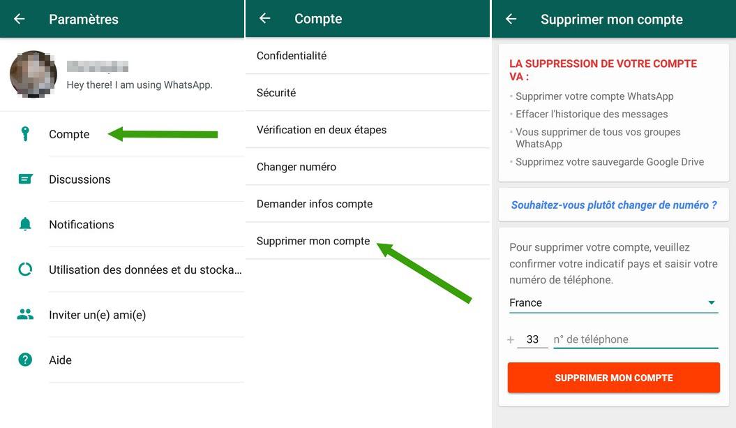 image de Comment désactiver ou supprimer votre compte WhatsApp sur Android 3