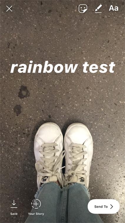image de Comment ajouter du texte arc-en-ciel dans vos stories Instagram 2