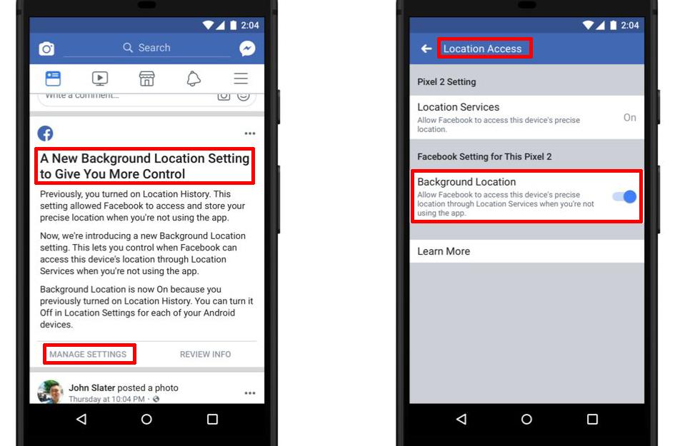 image de Evitez que l'application Facebook suive votre position en arrière-plan 2