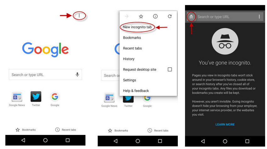 image de Navigation privée: comment utiliser le mode incognito sur Android 6