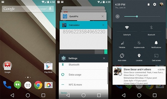 Android L, le nouveau système d'exploitation pour mobile de Google