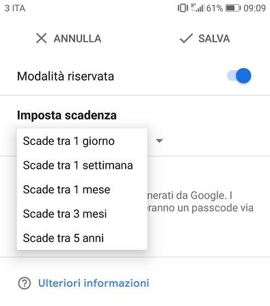 Screenshot1 messaggi sicuri