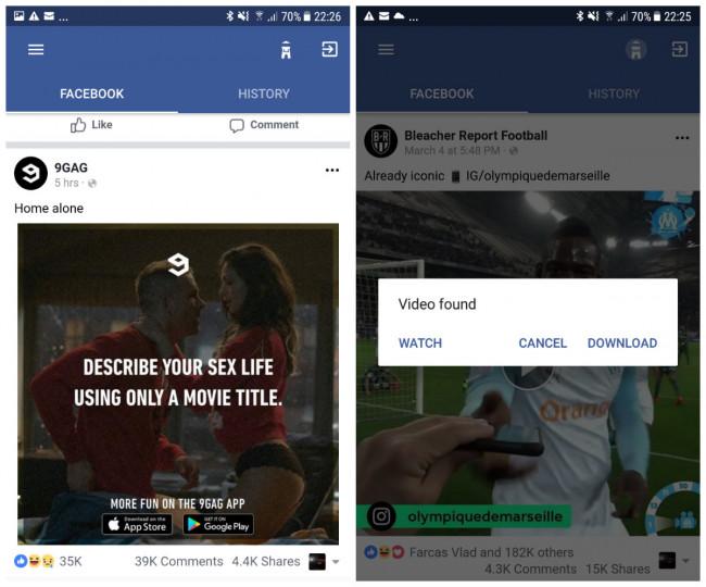 Image 3 Come scaricare i video da Facebook su Android