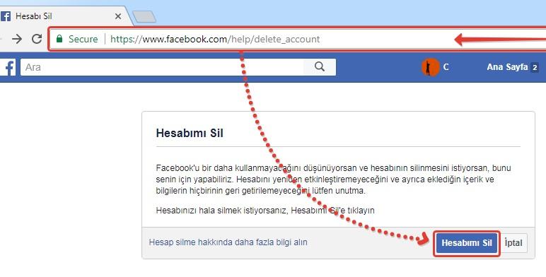facebook hesabi kalici olarak silme-1