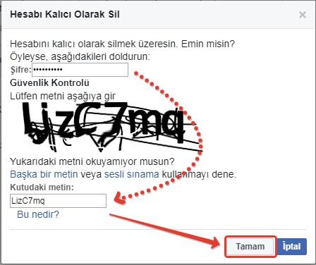 facebook hesabi kalici olarak silme -2