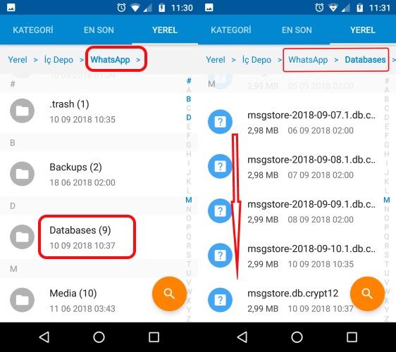 image7 eski whatsapp sohbetleri yeni android akilli telefona nasil aktarilir