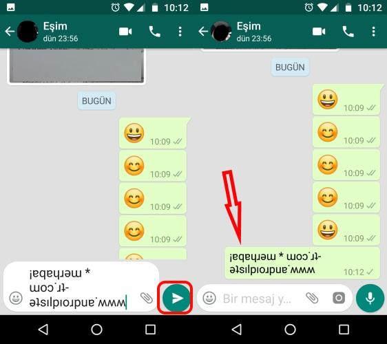 image4 whatsapp hileleri android tersten yazma nasıl yapilir