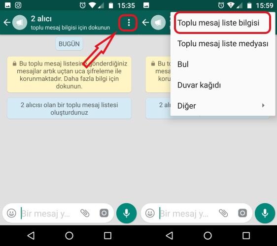 whatsapp toplu mesaj listeleri
