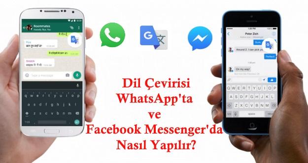 dil çeviri fwhatsapp facebook messenger