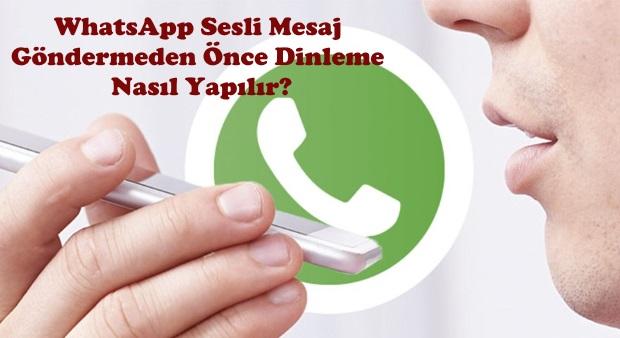 whatsapp sesli mesaj