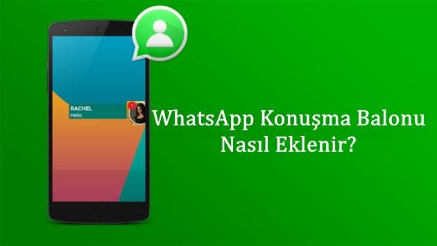 whatsapp konuşma balonu