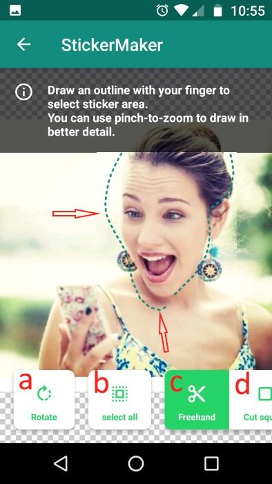 image7 kendi whatsapp cikartmalarini yapma ve gonderme nasil yapilir