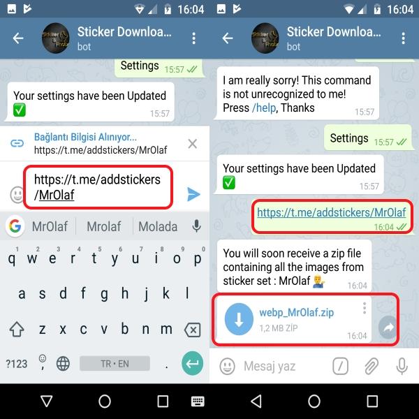 telegram stickers whatsapp çıkartma