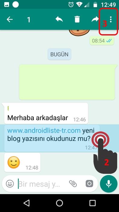 whatsapp grup mesajları-özel olarak cevapla