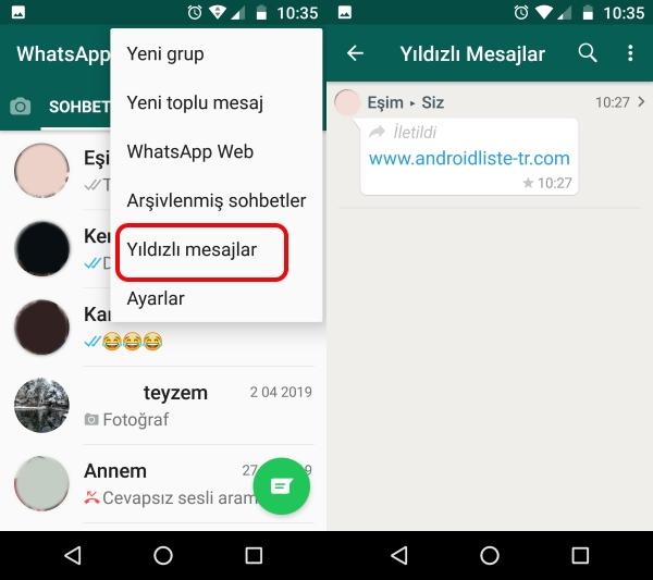 image3 whatsapp yildizli mesajlar ile onemli mesajlarin kaybolmasin
