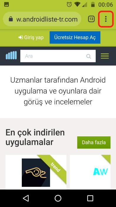 android-kısayol-oluşturma