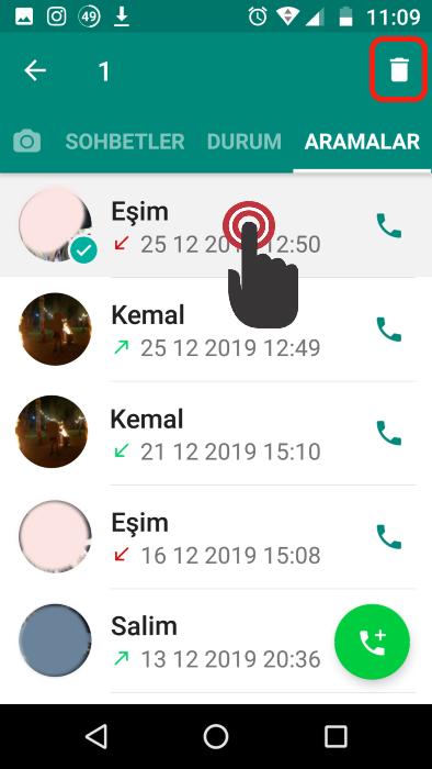 whatsapp-arama-geçmişi-silme