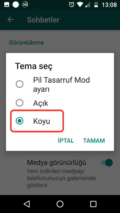 whatsapp-koyu-tema-nasıl-yapılır