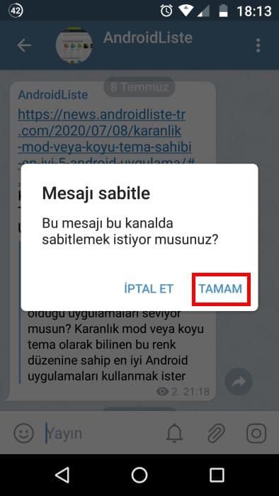 telegram-mesaj-sabitleme