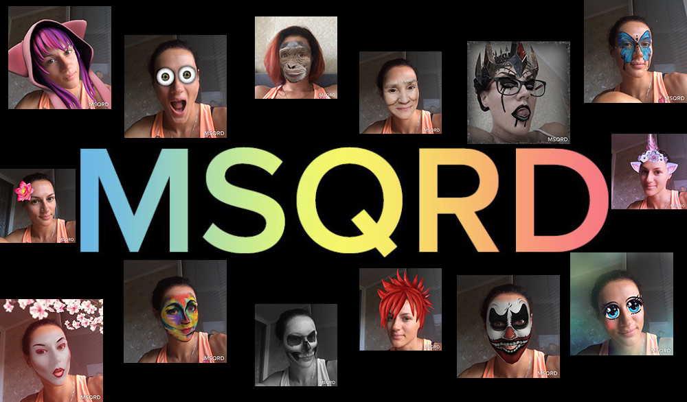Картинка 1 Лучшие приложения для накладывания фильтров в режиме реального времени: MSQRD, Face Swap