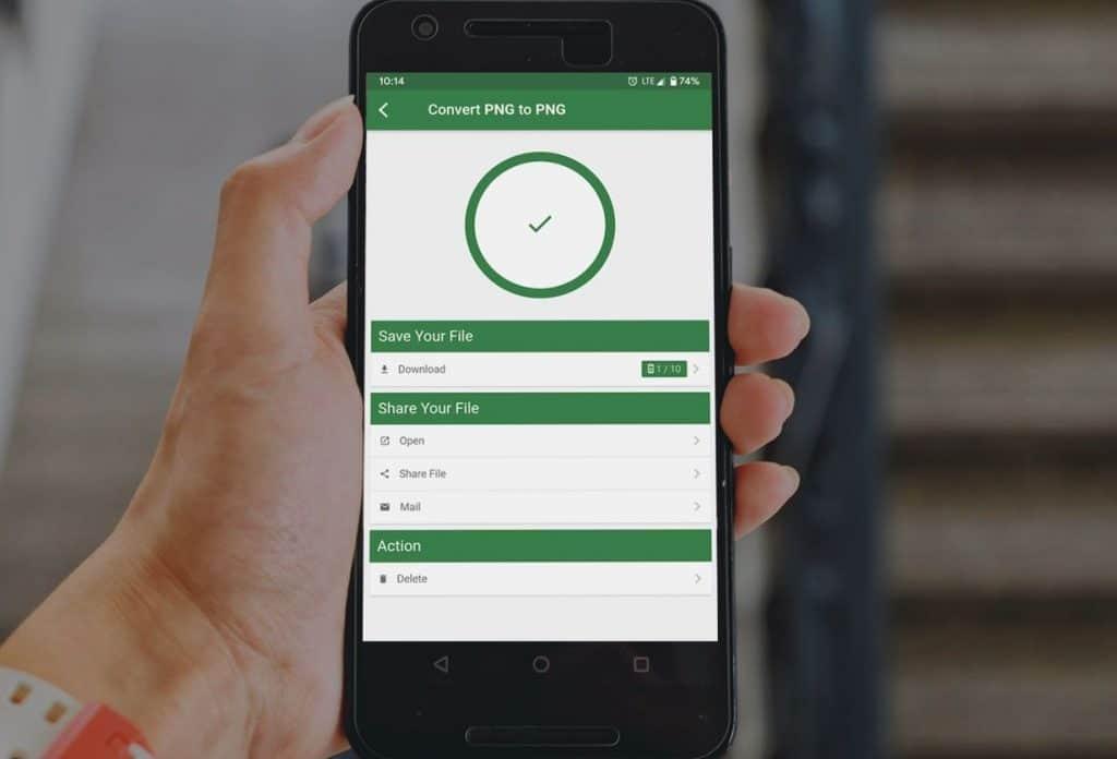 Как конвертировать картинки в разные форматы на Android